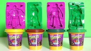 Softee Dough Teenage Mutant Ninja Turtles Figurine Maker Nickelodeon PlayDoh TMNT by DisneyCollector
