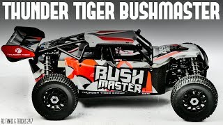 Please subscribe ➜ https://goo.gl/KyaLHPSpecial coupon for my subscribers - Tanksytb Brings down the price to $355Available here in two colorsBlue ➜ https://goo.gl/4VnPJaRed ➜  https://goo.gl/H7FpcrWell here is the Thunder Tiger Bushmaster! Well built and solid specs makes this one fantastic RC buggy. Here is the unboxing and initial in-depth look.More videos to come.Follow me on Facebook ➜ https://www.facebook.com/Rctanksandtrucks247Any questions please leave them in the comments and I will do my best to answer them.If you like the video please give it a thumbs up, share and subscribe for the latest videos.