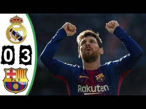 Real Madrid vs Barcelona 0-3 - All Goals & Extended Highlights - La Liga 23 Dec 2017 HD