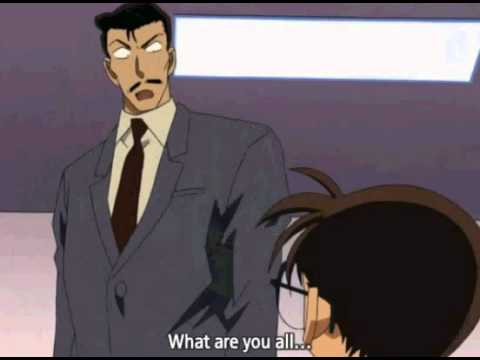 Detective Conan Kogoro imitating Conan's \