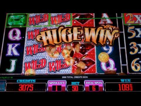 Super Rubies Slot Machine Bonus - 7 Free Games with Multiplier Reel - Nice Win