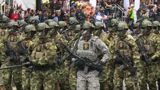Colombia celebrates 207 years of independence as a former Spanish colony on Thursday with its first show of military force after...