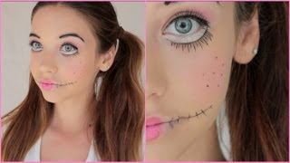 Creepy Doll Halloween Makeup Tutorial! - YouTube
