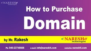 How to Purchase your Domain nareshit