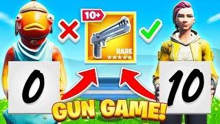 SCORECARD Gun Game CHALLENGE in Fortnite!