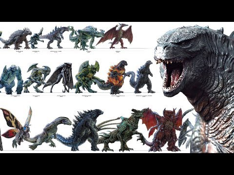 Every single KAIJU in GODZILLA 2...