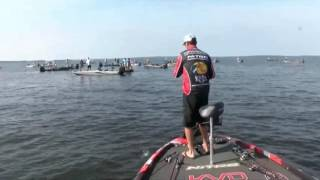 KVD hooks a monster bass - day 3 Toledo Bend