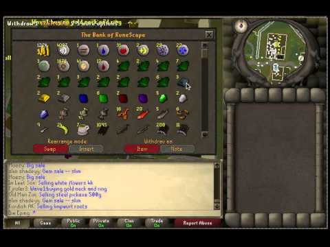 funny runescape bank video - New money making method out tomorrow! (Monday 2/25) Update video on my adventure in Runescape old school 07! Bank, stats, quests, & goals! Subscribe, rate, c...
