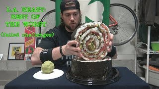 L.A. BEAST Best of The Worst (Failed Challenges) ft. | 15 Pound Piece Of Sushi