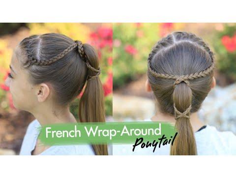 French Wrap-Around Ponytail %7C Cute Girls Hairstyles