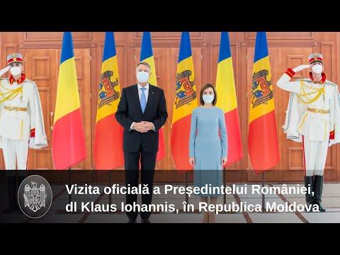 Президент Республики Молдова Майя Санду приняла в Кишинэу Президента Румынии Клауса Йоханниса