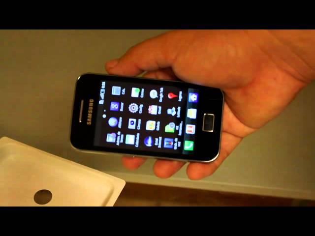 Samsung Galaxy Ace S5830 Unboxing y primera vista
