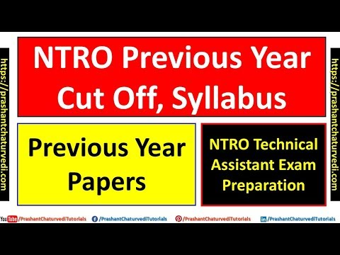 Ntro Technical Assistant: Cut Off || Syllabus || Previous Year Paper ||