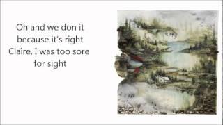Bon Iver- Wash. w/Lyrics