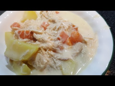 Creamy Chicken Soup - The Hillbilly Kitchen
