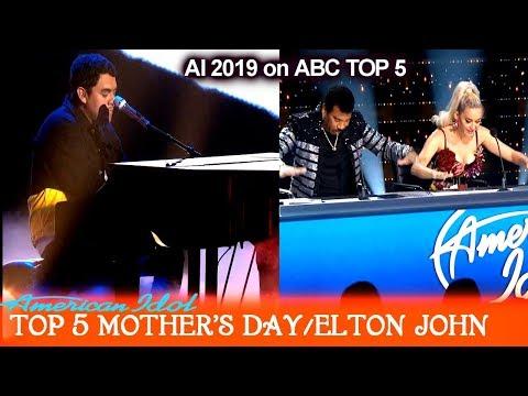 "Alejandro Aranda ""Blesser"" Original Song on piano Mother's Day Dedication   American Idol 2019 Top 5"