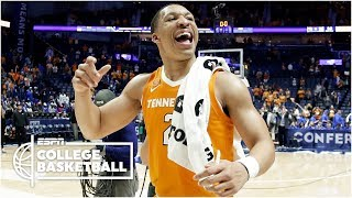 Tennessee takes down Kentucky to advance to the SEC Championship   College Basketball Highlights