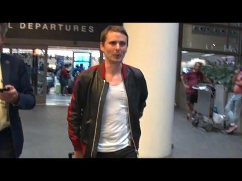 Muse Rocker Matt Bellamy Eases His Way Through Customs At LAX
