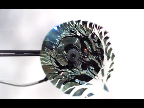Spinning a CD so fast it explodes