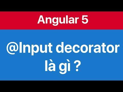 07-Sử dụng Input decorator để truyền dữ liệu giữa các Component
