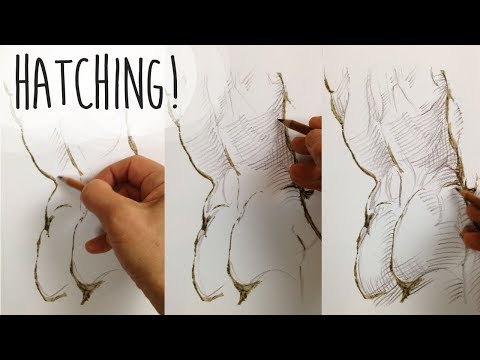 HATCHING TUTORIAL - How to use parallel, contour and cross hatching for shading and form