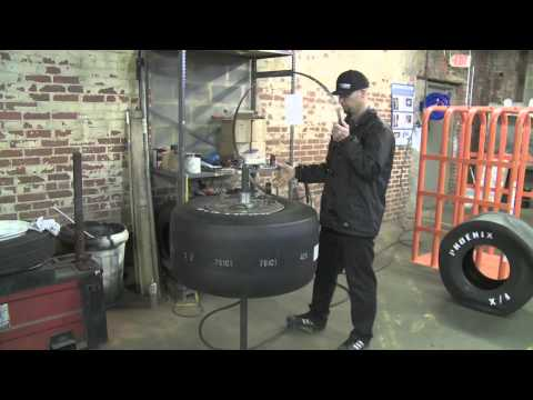 racing tires - Every set of drag slicks comes from Coker Tire Company as a matched pair. Eric Gullet demonstrates how we match each set of tires and explains how matching y...