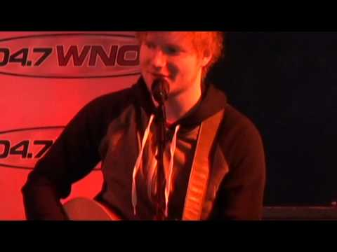 Ed Sheeran performs 'A Team' for 40 WNOK listeners