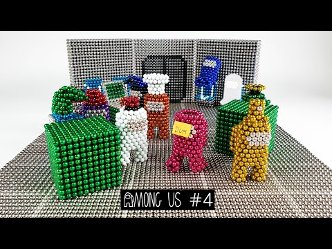 Magnetic Among Us Stop Motion - episode 4 네오큐브 어몽어스 4탄