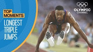 The Longest Ever Olympic Triple Jumps | Top Moments