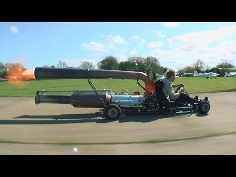 這個瘋狂的發明家把噴射引擎裝在卡丁車上,接下來…