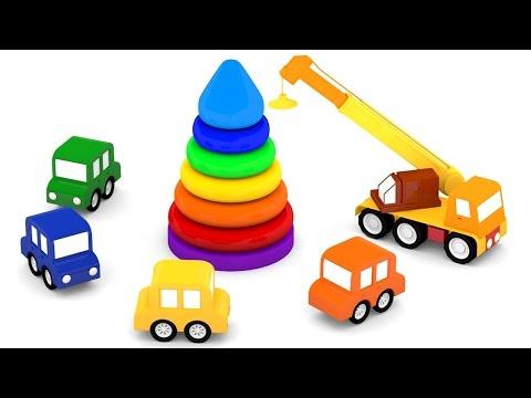 Cartoni animati per bambini: Macchinine Colorate e la piramide di anelli