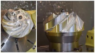 5-Axis impeller machining using 5AX-350
