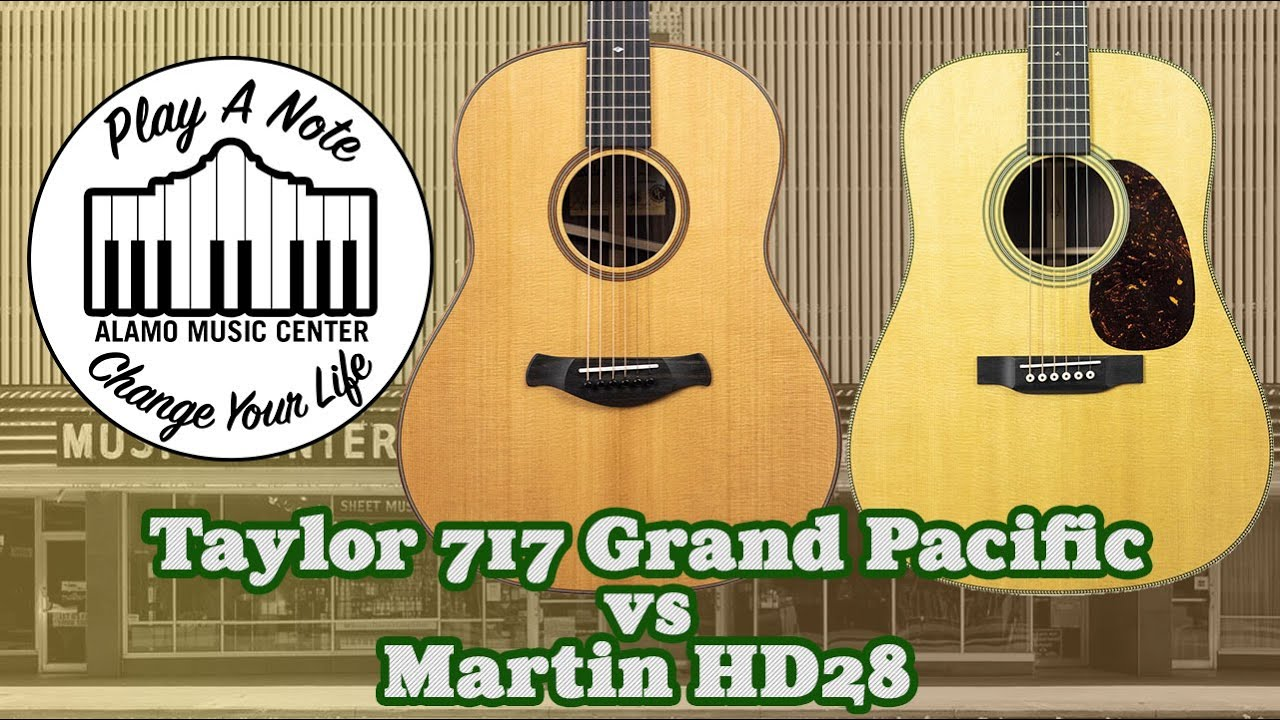 Taylor 717 Grand Pacific vs Martin HD28 – New for 2019 Acoustic Guitar Buyer's Guide and Comparison