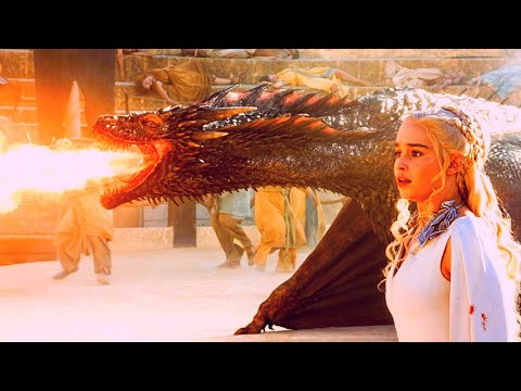 All DRAGON Scenes in Game of Thrones | Seasons 1-8 | Movie Compilation - HD 1080p