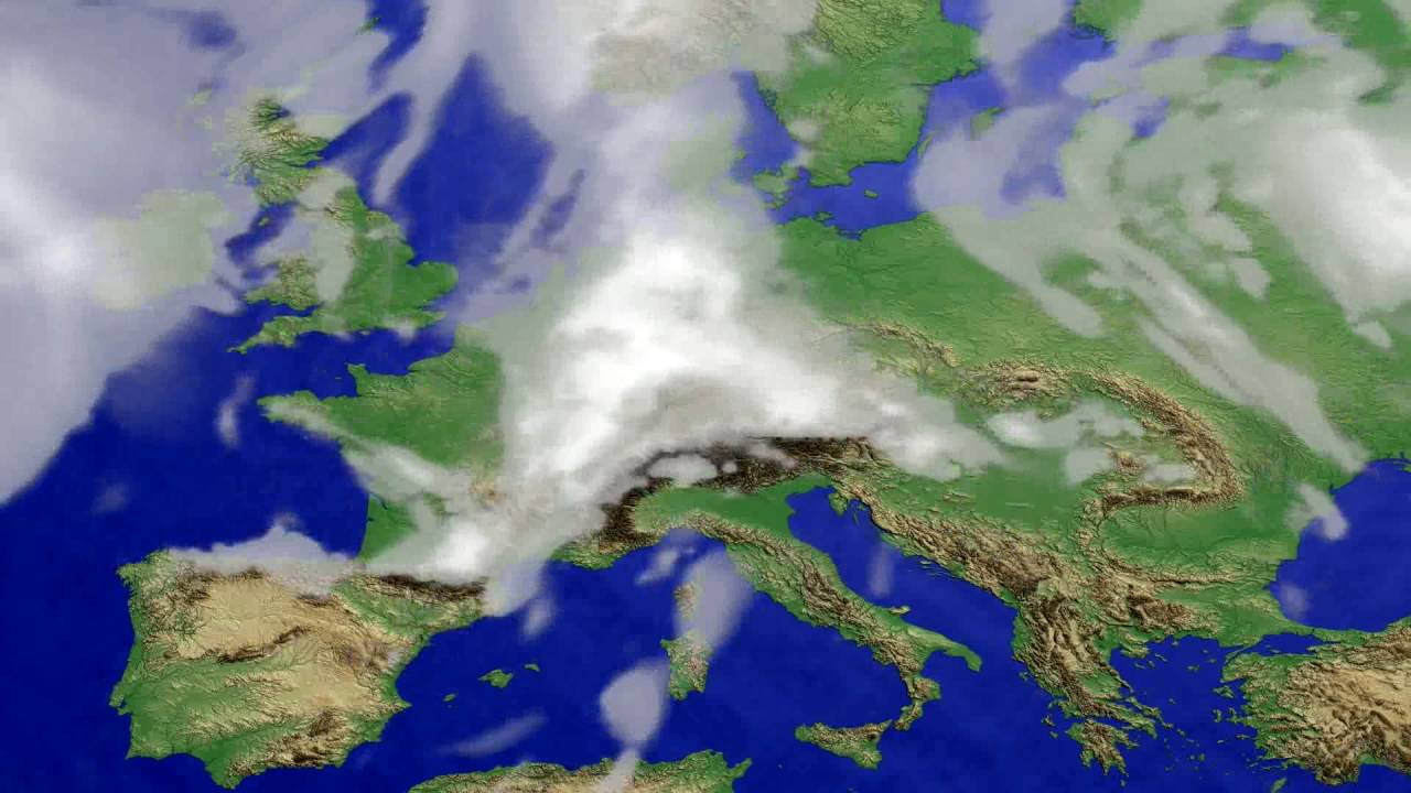 Cloud forecast Europe 2016-07-20