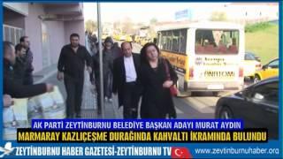 Başkan Murat Aydın Marmaray'da kahvaltı ikramında bulundu