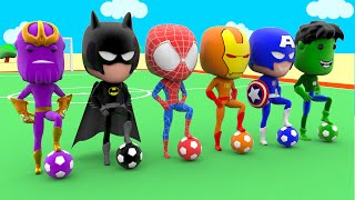 Thanos Avenger Learn Colors with Fifa World Cup Football 2018 Superheroes Spiderman