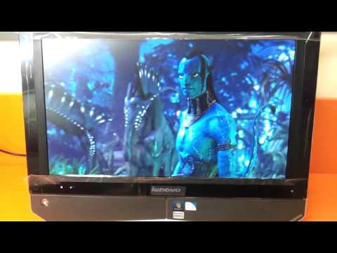 lenovo b320 all  in one video review and viewing angles in hd