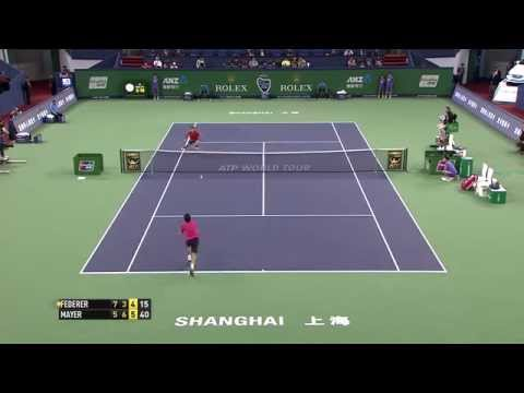 roger - Roger Federer saved five match points to beat Leonardo Mayer in the Shanghai second round. See how close Mayer came to converting his first match point. Watc...