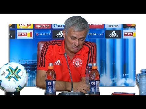 Real Madrid 2-1 Manchester United - Jose Mourinho Post Match Press Conference - Super Cup (видео)