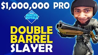 DOUBLE BARREL DEFENSIVE PLAYER SLAYER | PRO GAME SCRIM WINTER ROYALE - (Fortnite Battle Royale)
