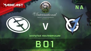 Evil Geniuses vs VGJ.Storm, The International 2018, Закрытые квалификации | Северная Америка