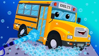 Video School Bus Car Wash | Toy Car Wash | Games for Kids & Toddlers MP3, 3GP, MP4, WEBM, AVI, FLV Oktober 2018