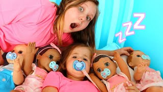 Video Ruby helps Babies! Kids Pretend Play with Baby Dolls feeding and morning routine video MP3, 3GP, MP4, WEBM, AVI, FLV Oktober 2018