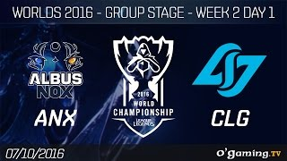 ANX vs CLG - World Championship 2016 - Group Stage Week 2 Day 1