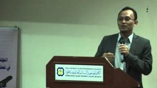 تقديم الورقة البحثية من فضيلة الدكتور معلمين محمد شهيد في المؤتمر الدولي في تعليم اللغة العربية 2015
