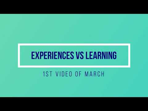 Graduation quotes - EXPERIENCES VS LEARNING  N-A  VIDEOS#17