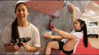 Heel Hooks, Climbing shoes with Xian by Arch Climbing