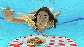 Eating a Full Meal Underwater