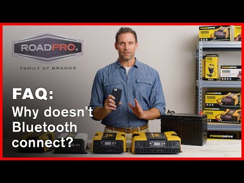 Power Inverter FAQ #10 - Why doesn't the Bluetooth connect?